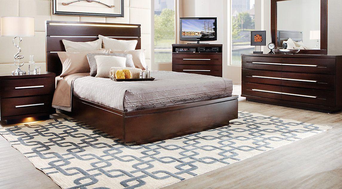 affordable platform king bedroom sets  rooms to go