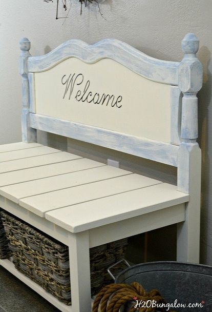 Lieblich Diy Twin Headboard Bench With Storage, Outdoor Furniture, Repurposing  Upcycling, Storage Ideas,