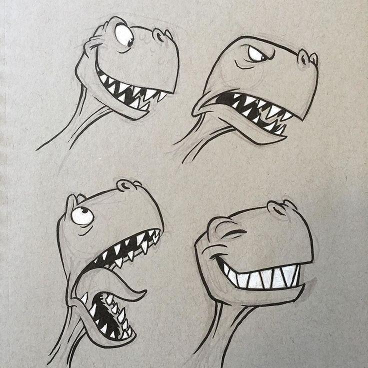 regram @ericscales13 #dino #dinosaur #trex #cartoo… – #cartoo #cartoon – Cartoon zeichnen