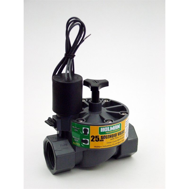 Holman 25mm solenoid valve with flow control side garden holman 25mm solenoid valve with flow control ccuart Gallery