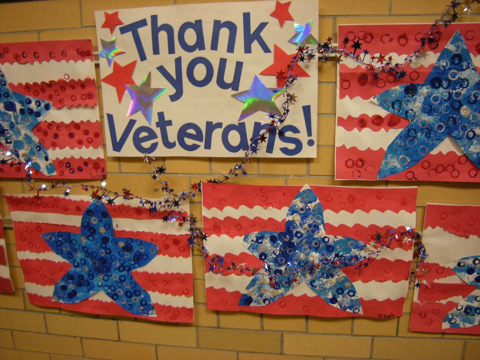 Art Project Can Use For Memorial Day Veterans Day 4th