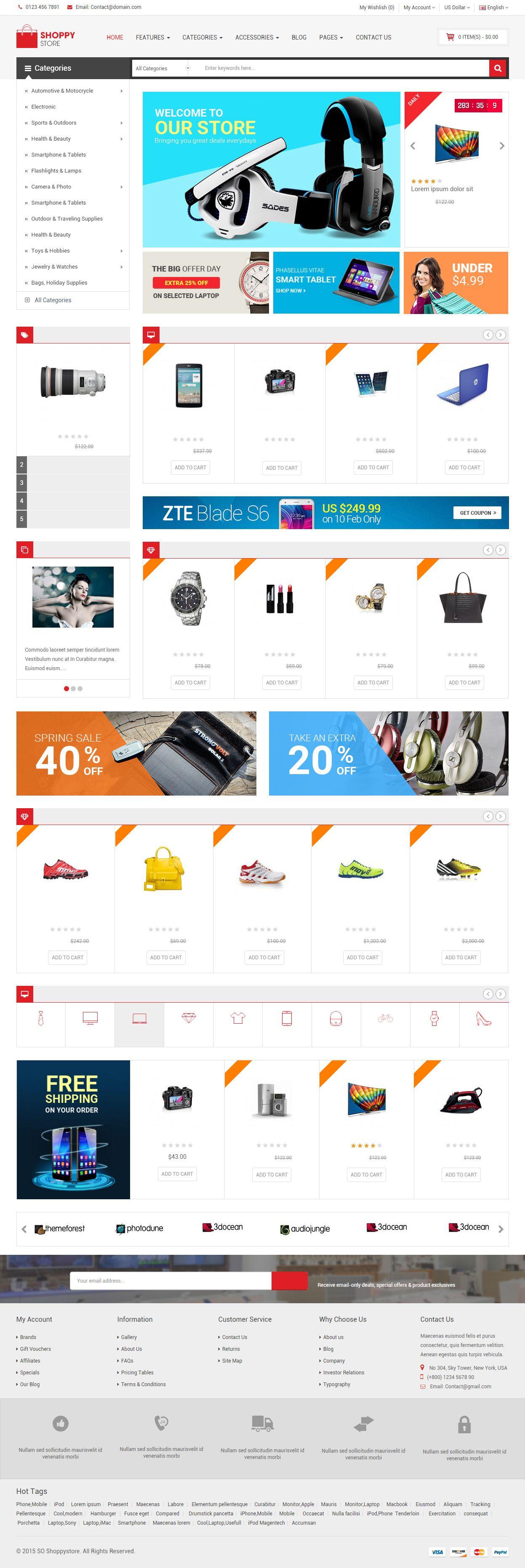ShoppyStore is Premium full Responsive #OpenCart eCommerce #Theme. #RetinaReady. Bootstrap 3 Framework. Mega Menu. Font Awesome. Test free demo at: http://www.responsivemiracle.com/shoppystore-premium-responsive-multipurpose-opencart-theme/