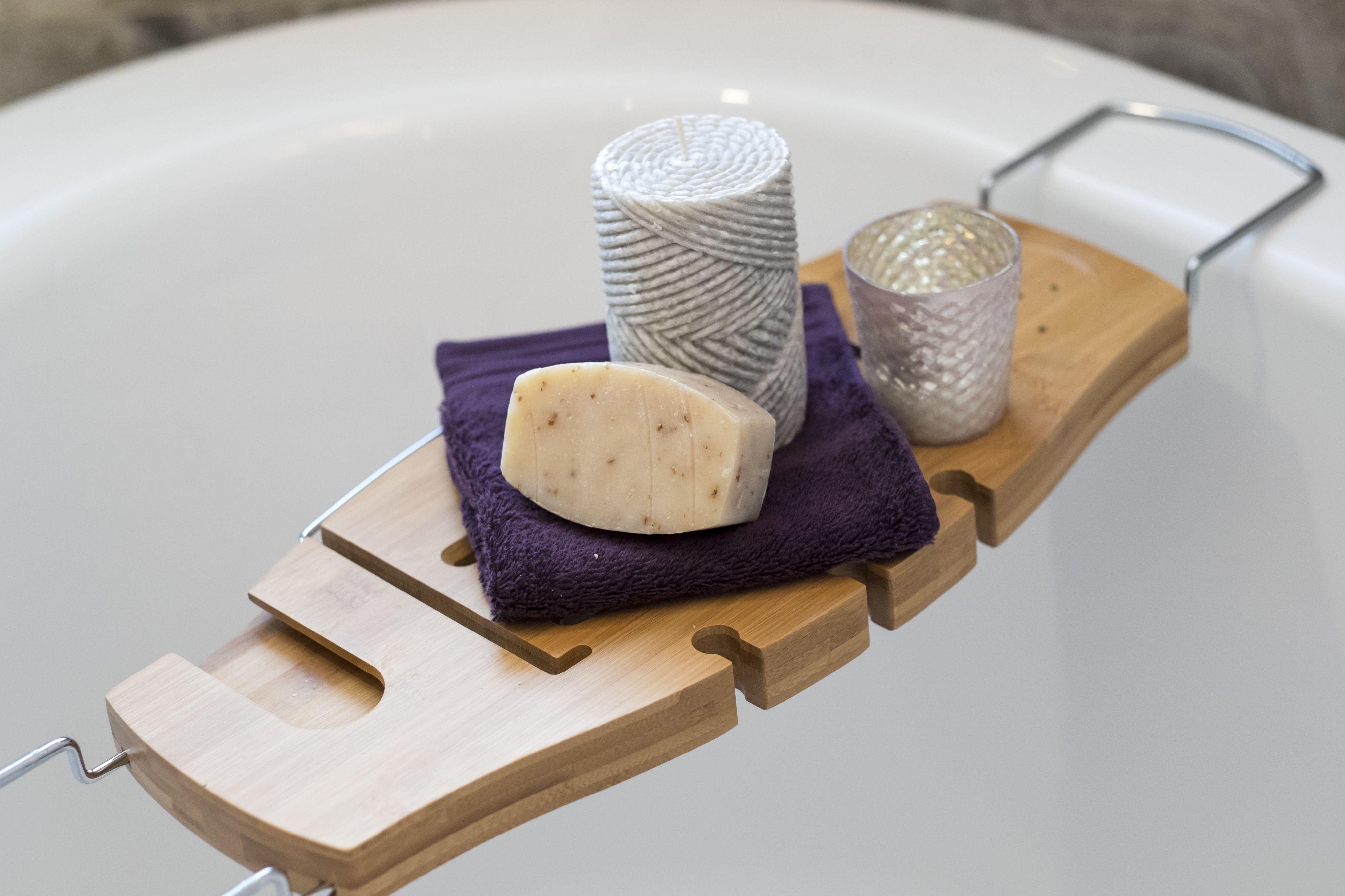 Umbra, Bamboo Bath Caddy | Bathroom | Pinterest | Bath caddy, Bath ...