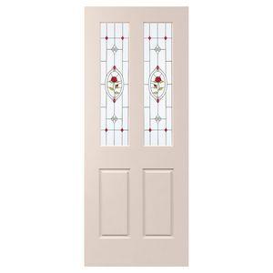 Corinthian Doors Solid Carve Psc4g Rose Jewel 2040x820x40mm Glass Front Door Home Improvement Enfield House
