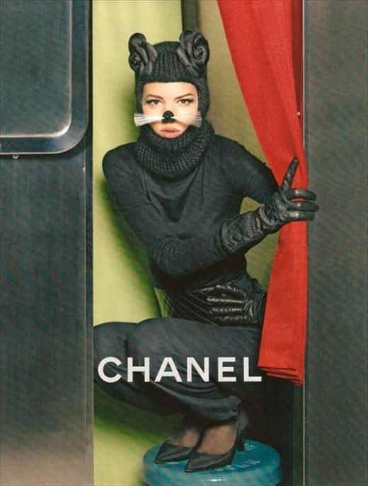 Chanel A/W11 featuring Freja Beha Erichsen, Photography Karl Lagerfeld, styling Carine Roitfeld