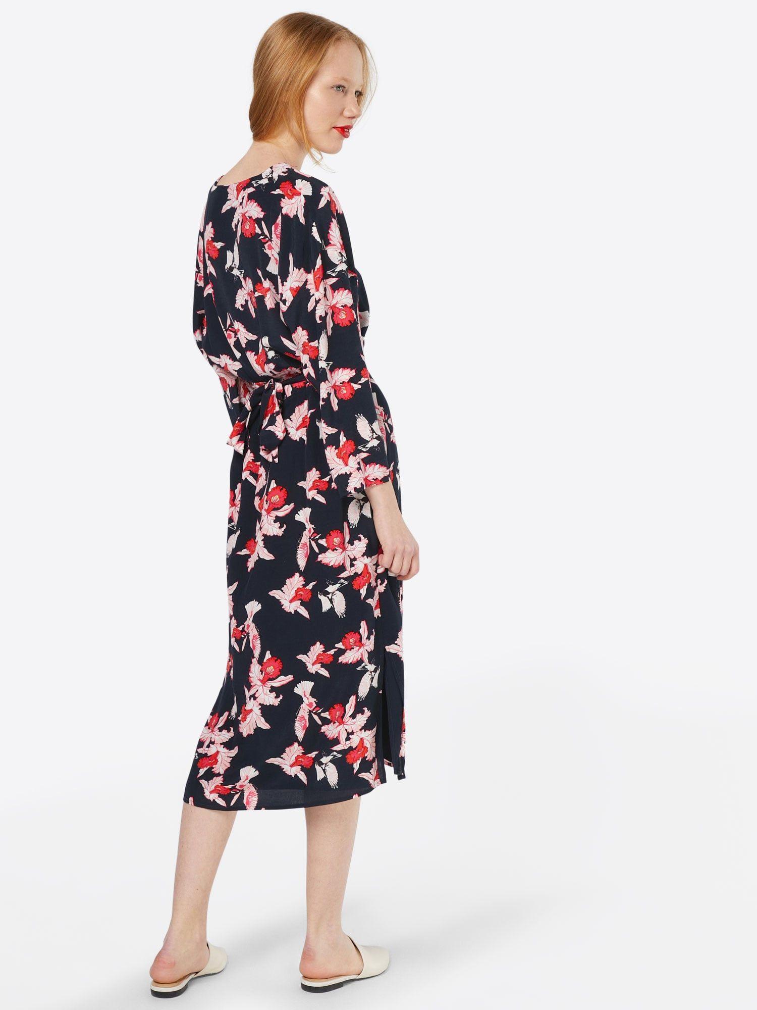 Modström Kleid 'Fedora' Damen, Navy / Altrosa / Rot, Größe 42 #fedoras