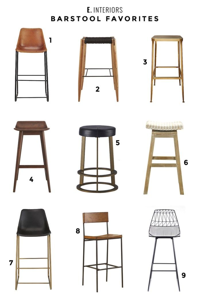 A round-up of all our current favorite barstools.