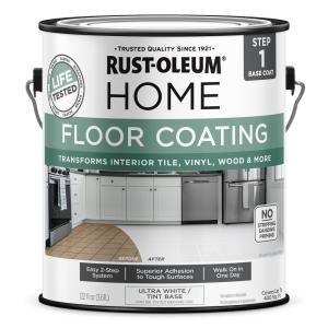 Rust Oleum Home 1 Gal Ultra White Interior Floor Base Coating 357671 The Home Depot In 2020 Can You Paint Tile Floor Coating Interior Floor