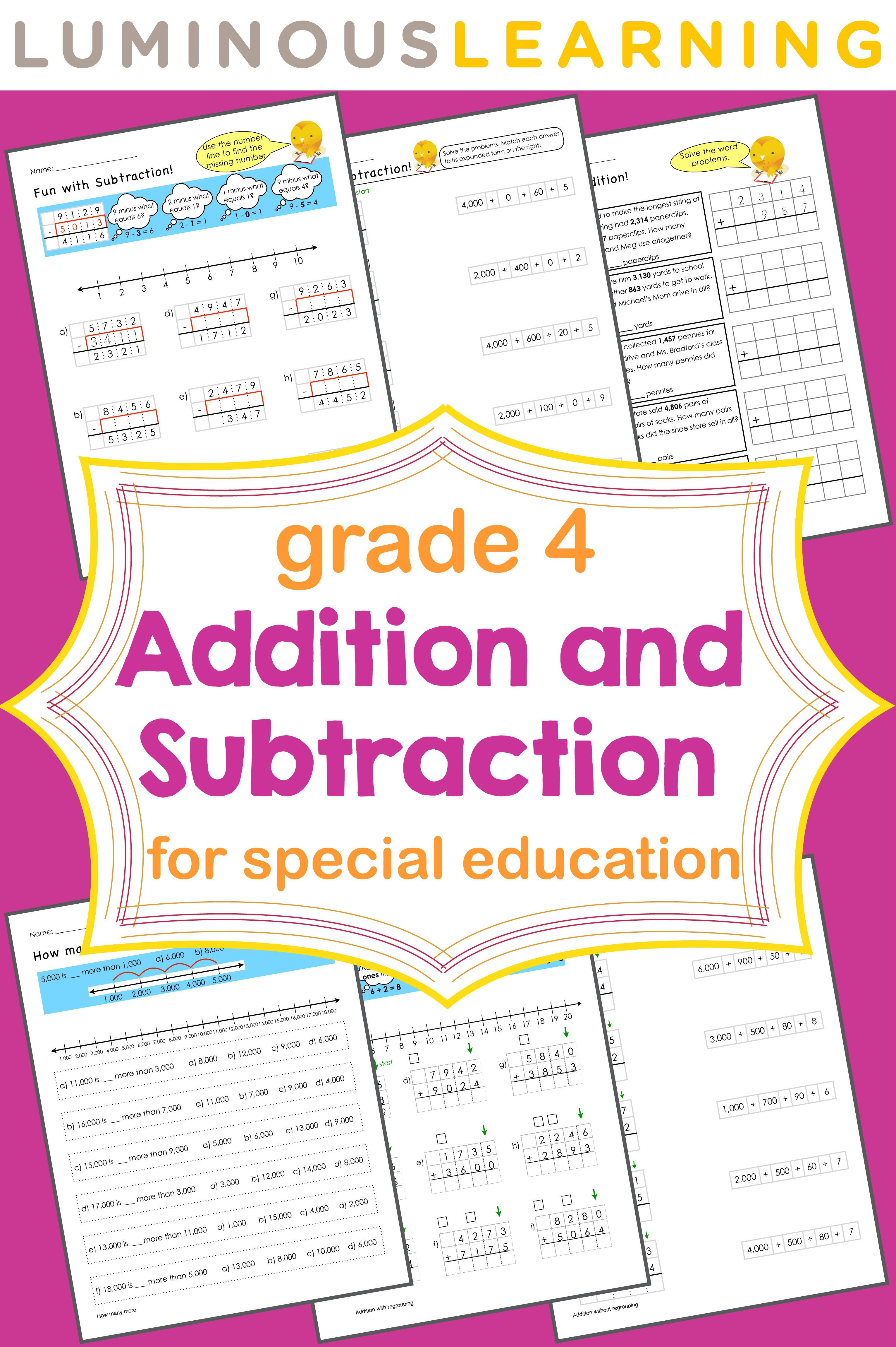 Grade 4 Addition And Subtraction Workbook In