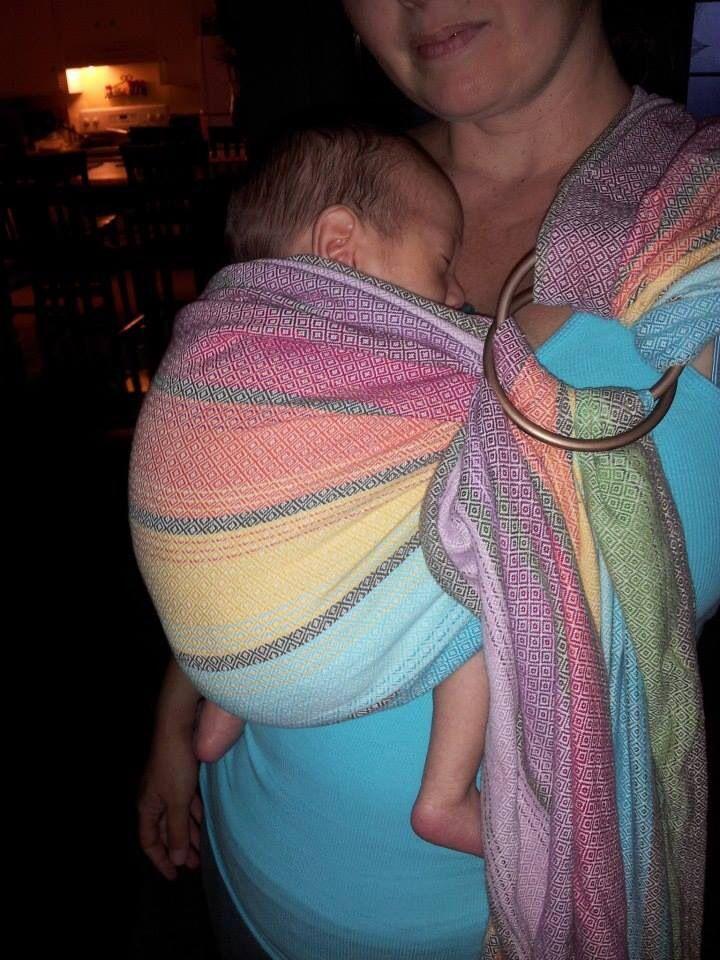 Newborn in ring sling Baby wearing, Preemie, Preemie babies