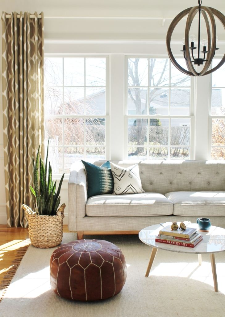 The Full Den Reveal With Pure White Walls By Sherwin Williams Farm House Living Room Farmhouse Decor Living Room Couches Living Room #white #wall #living #room #decor