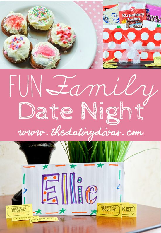 family date night popcorn donuts and pizzas
