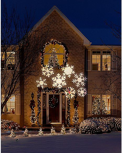 Snow Flurry Led Light Show Projector Outdoor Holiday Decor