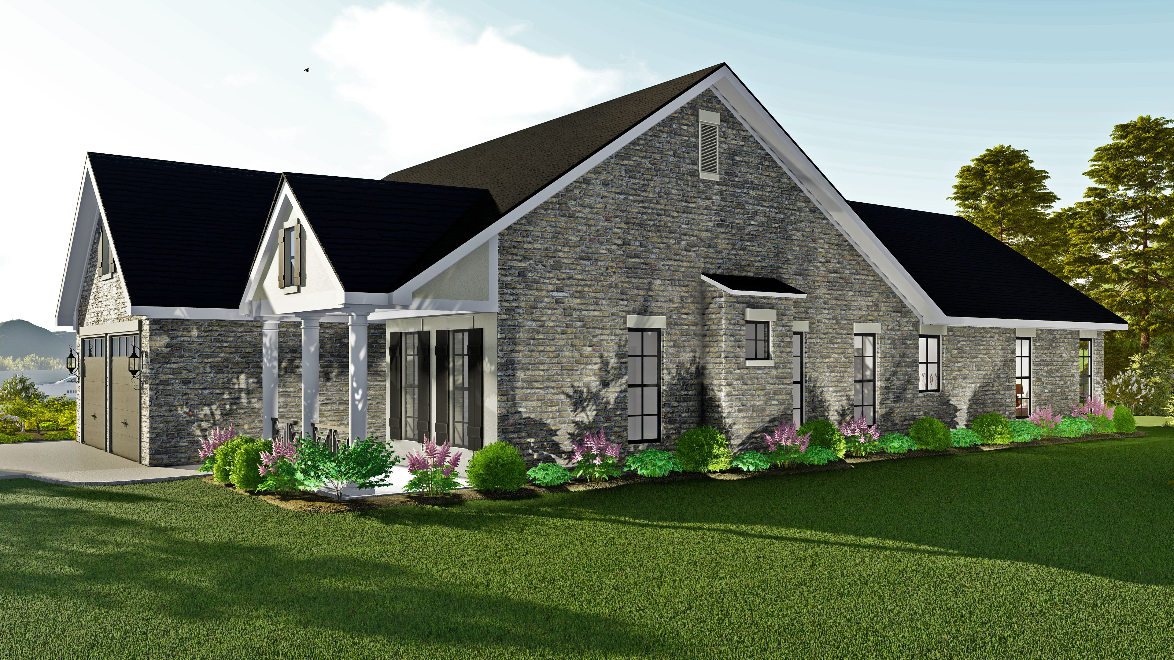 The Auburndale House Plan 17100 Open Concept Floor Plans House Plans One Level House Plans