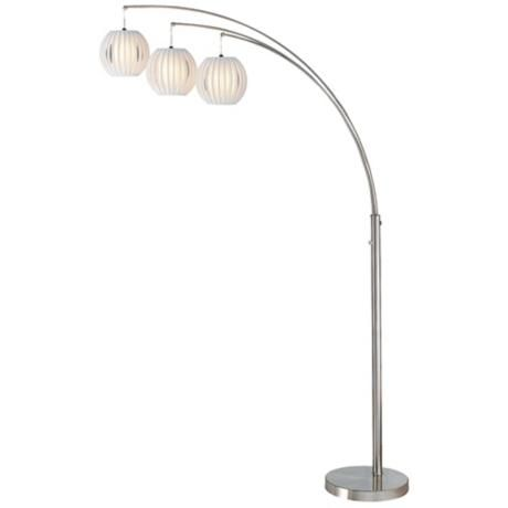 Lite source deion 3 light hanging arc floor lamp n1912 lamps plus