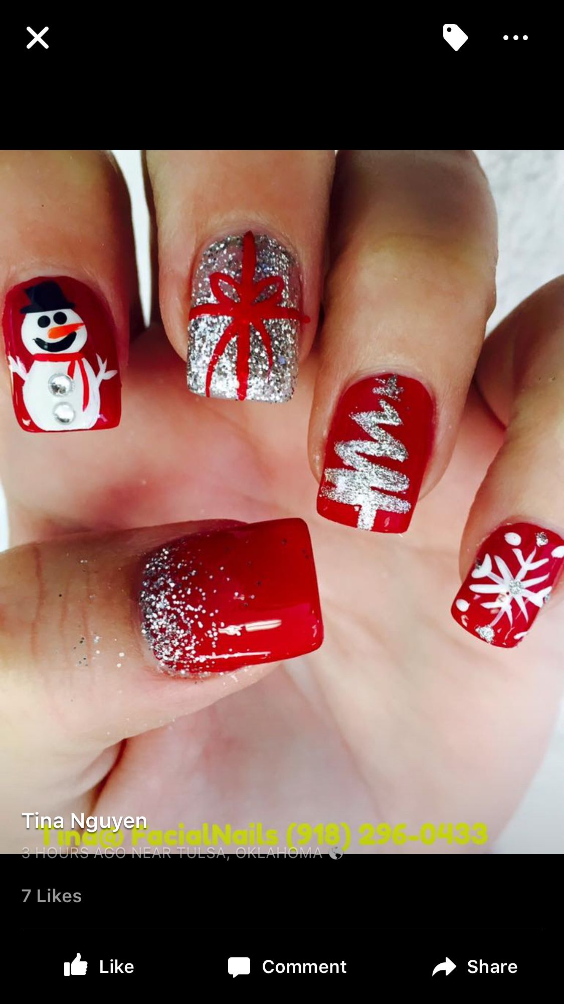 25 Christmas Nail Arts Design That You Will Love | Winter nails ...