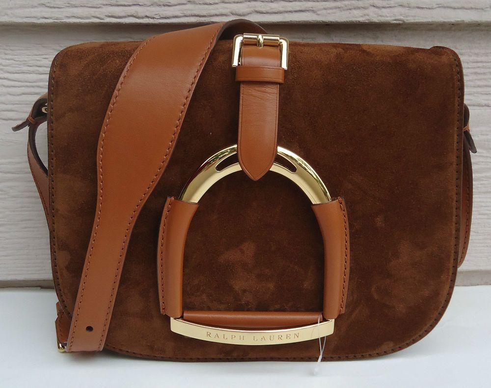 989c794fad89 NEW  1500 Ralph Lauren Collection Equestrian Leather Suede Stirrup Brown   RalphLauren  ShoulderBag