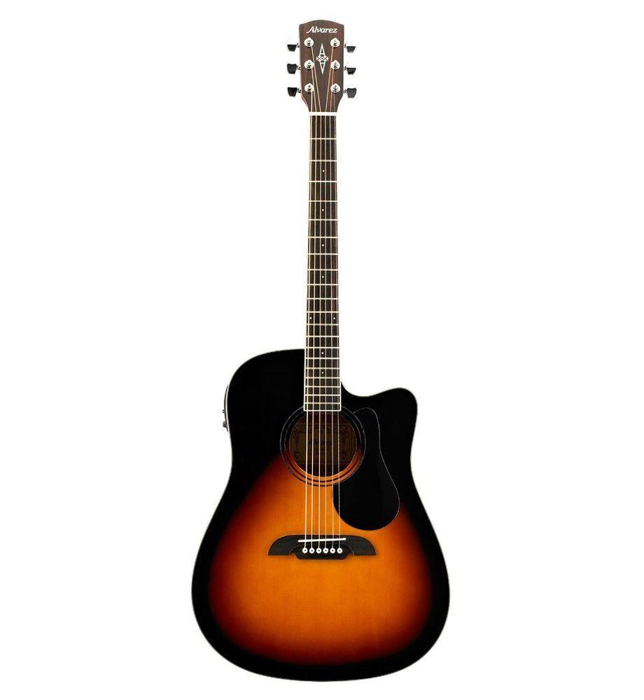 Alvarez Model Rd26cesb Acoustic Electric Cutaway In Sunburst W Bag Bundle 1 Alvarez Guitar Lovers Acoustic Acoustic Electric