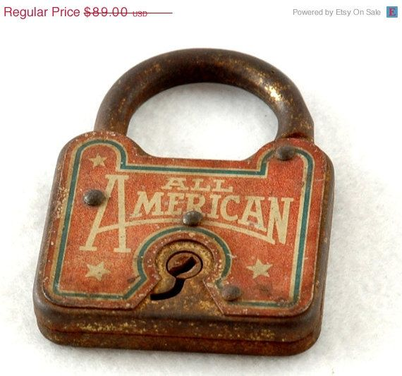 Old Rusty All American Vintage Antique Lock City S