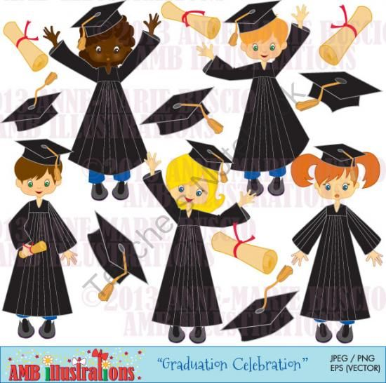 Graduation Celebration CLIPART 222 From Bestteachertools On TeachersNotebook