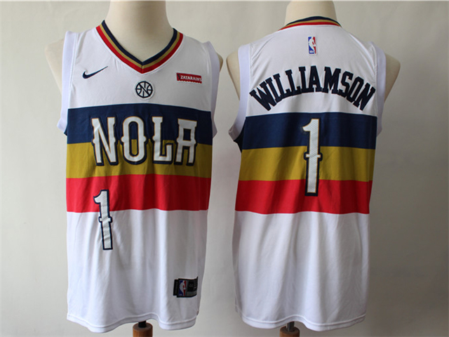 New Orleans Pelicans 1 Zion Williamson White Earned Edition Swingman Jersey New Orleans Pelicans Nba Fashion Shaquille O Neal