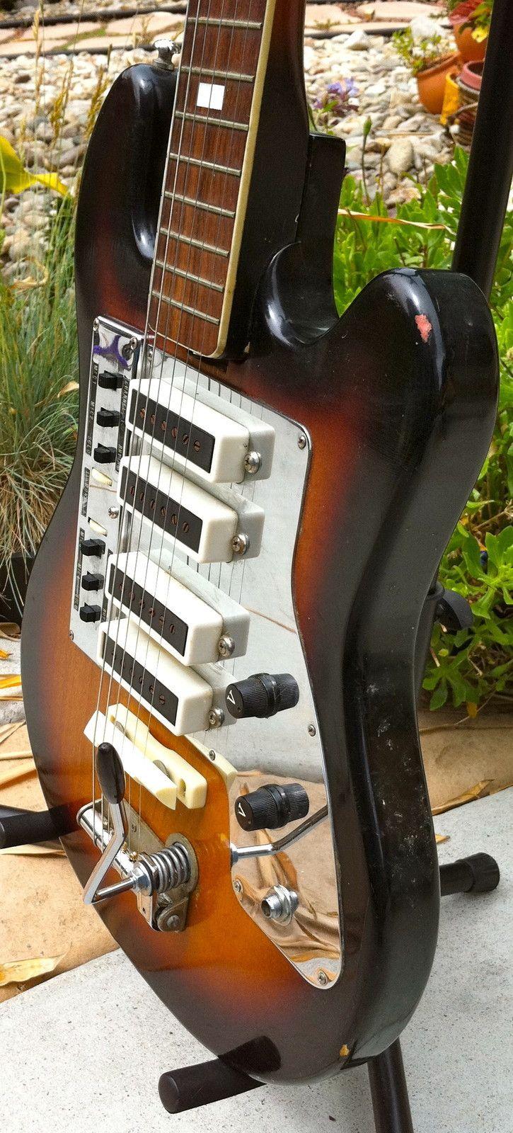 Rare 60\'s kent/guyatone four pickup guitar \
