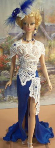 Sapphire-BLUE-White-glammourdoll-OOAK-Fashion-Fit-FR2-Royalty-SILKSTONE-Muse