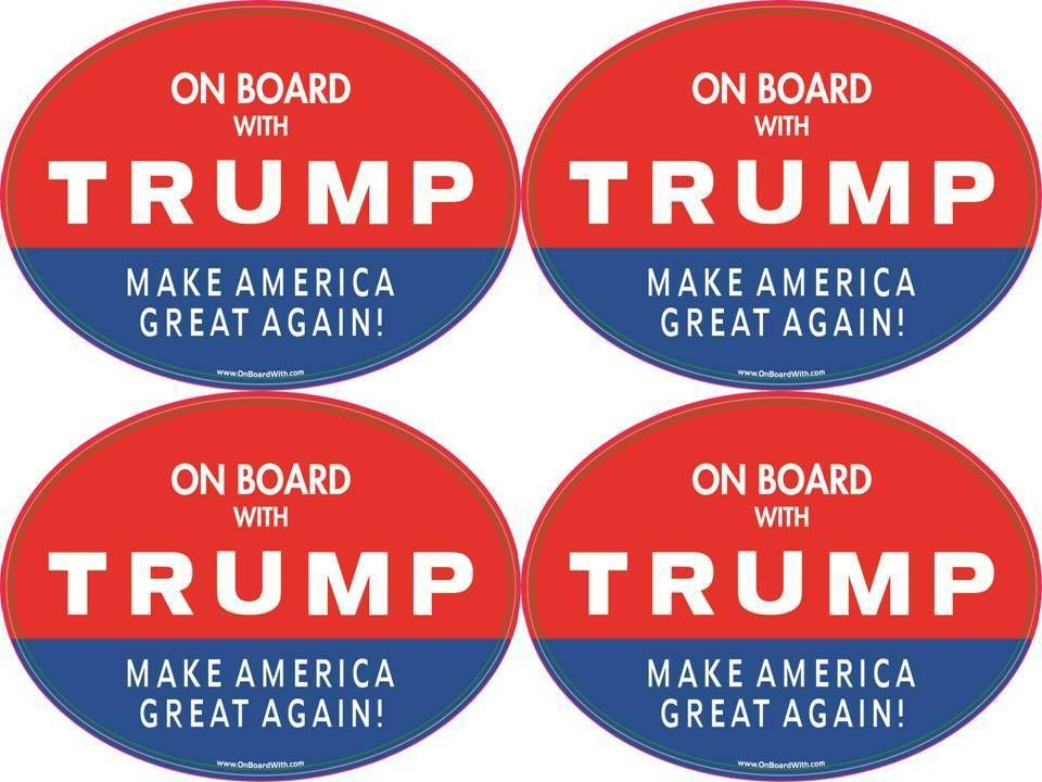 Now selling on ebay qty 4 donald trump make america great again gop political bumper