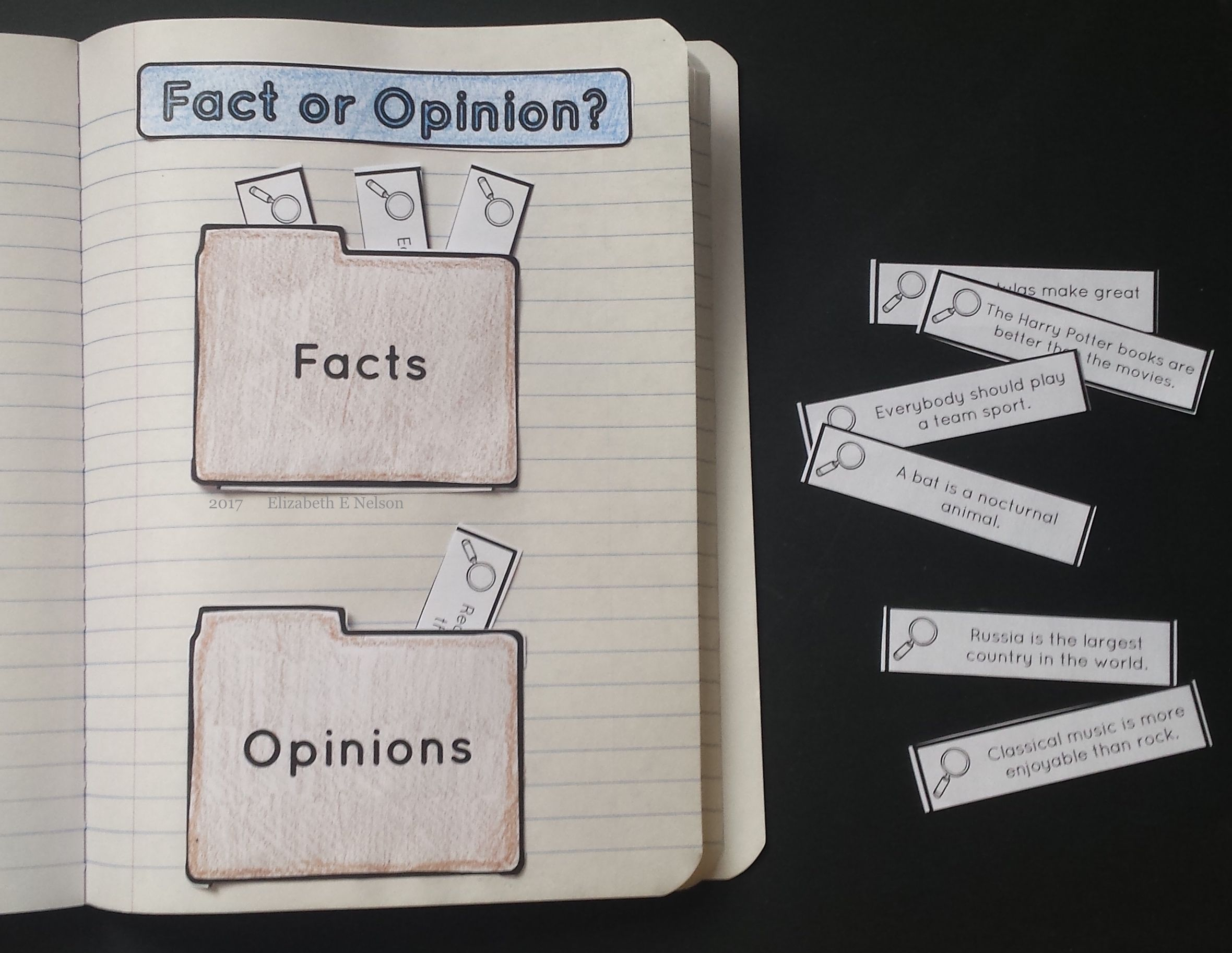 Fact Opinion Worksheet