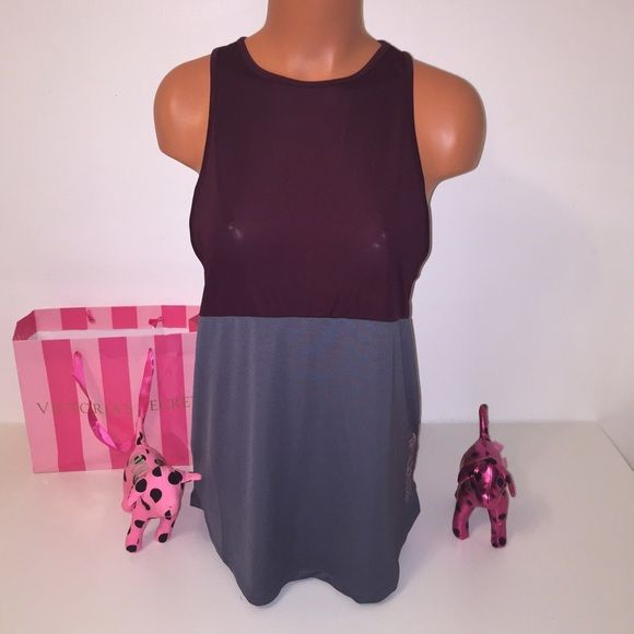 NEW PINK VS RACERBACK TOP LOGO PINK VICTORIA'S SECRET MUSCLE TANK  RACERBACK TANK WITH LOGO IN ONE SIDE COLOR MAROON/GRAY  SIZE S   FAST SHIPPING!!!    Check out my other items! I am sure you will find something that you will love it! Thank you for watch!!!!!   Be sure to add me to your favorites list! PINK Victoria's Secret Tops Tank Tops