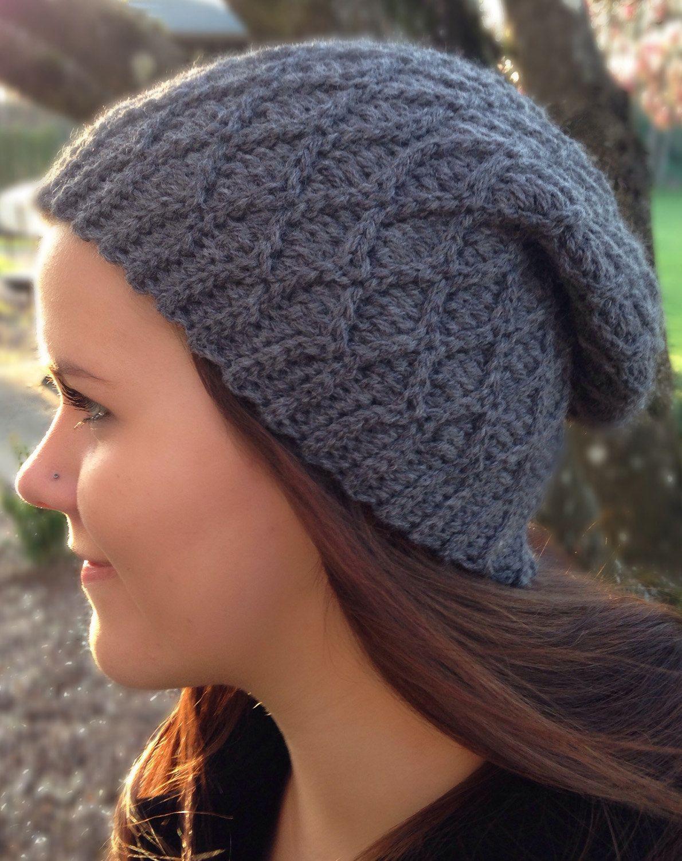 d76b61cc71 Crochet Pattern Adamas Slouchy Diamond Hat PDF Instant Download All Sizes  Baby Toddler Children Women Men