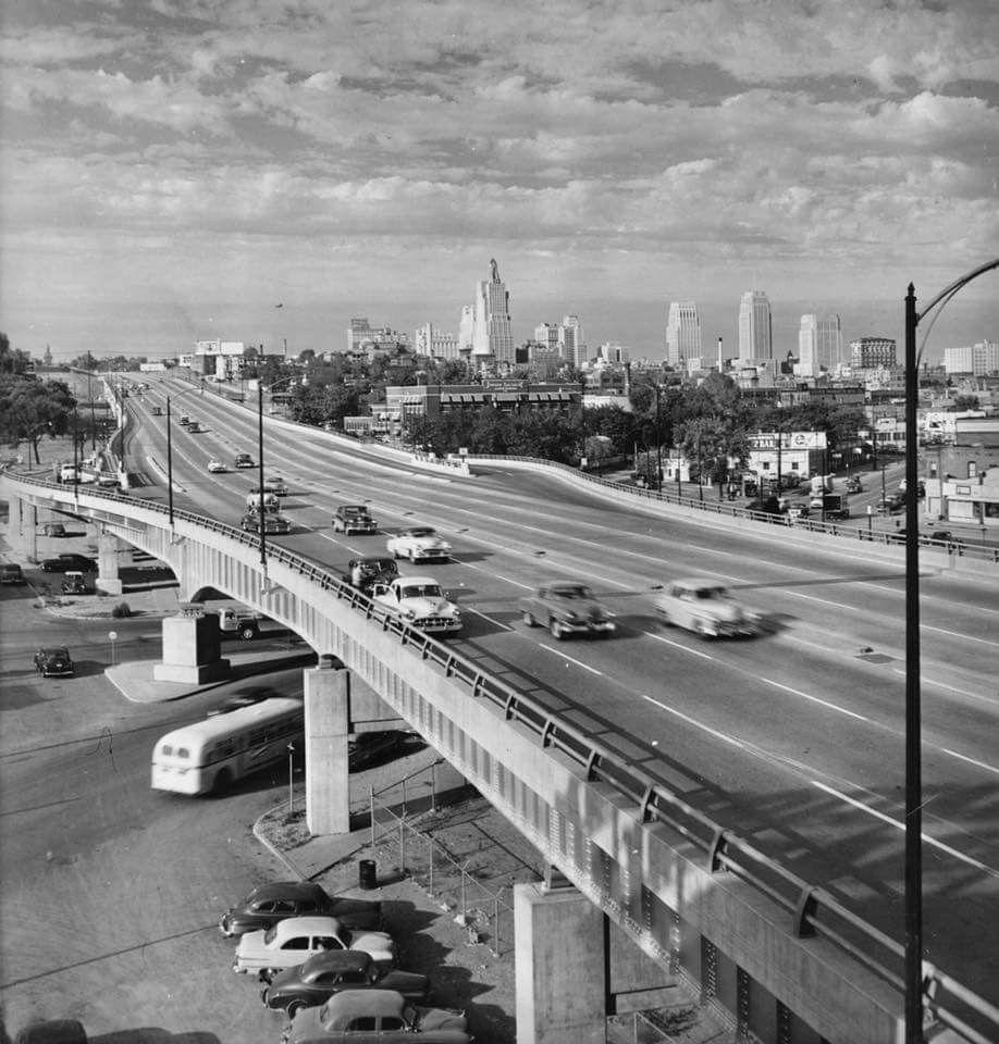 Southwest Trafficway 1950 S Kansas City Downtown Kansas City