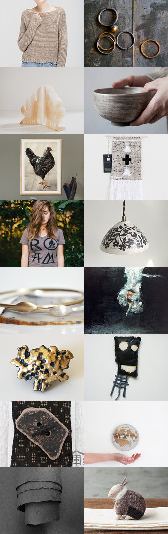 steel and fused gold by mirta on Etsy--Pinned+with+TreasuryPin.com