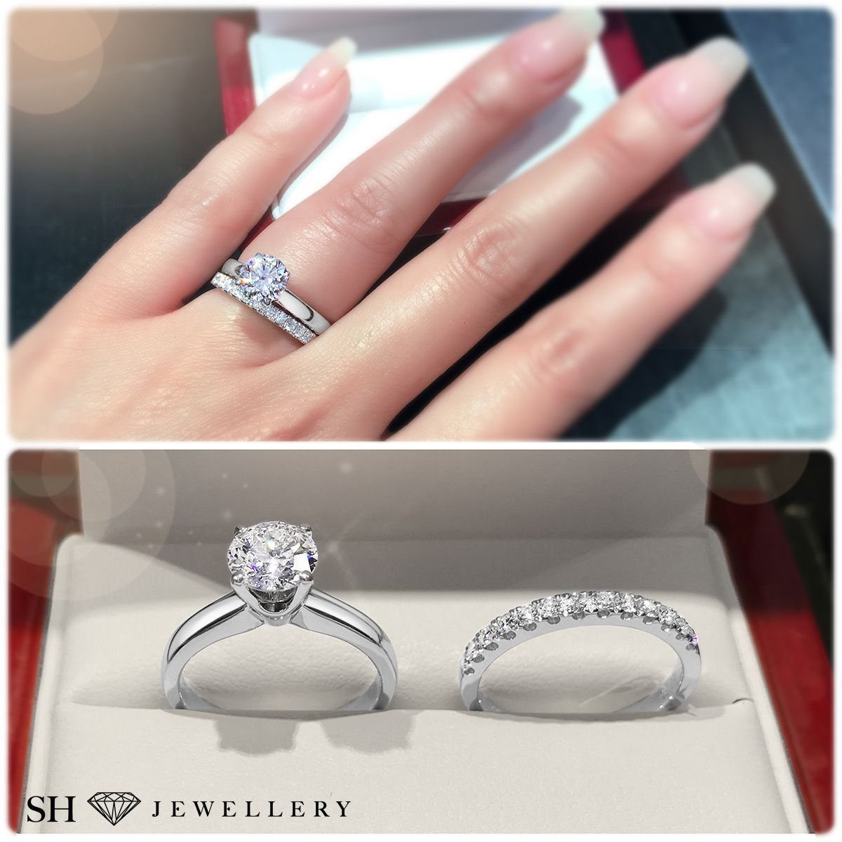 Classic 4 Claw Solitaire Engagement Ring W0005 Womens Wedding Bands Diamond Diamond Engagement Wedding Ring Engagement Wedding Ring Sets