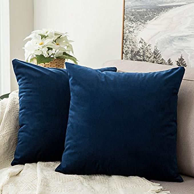 Best Throw Pillows For Leather Couch At Home With The Barkers Blue Throw Pillows Bedroom Sofa Sofa Pillows