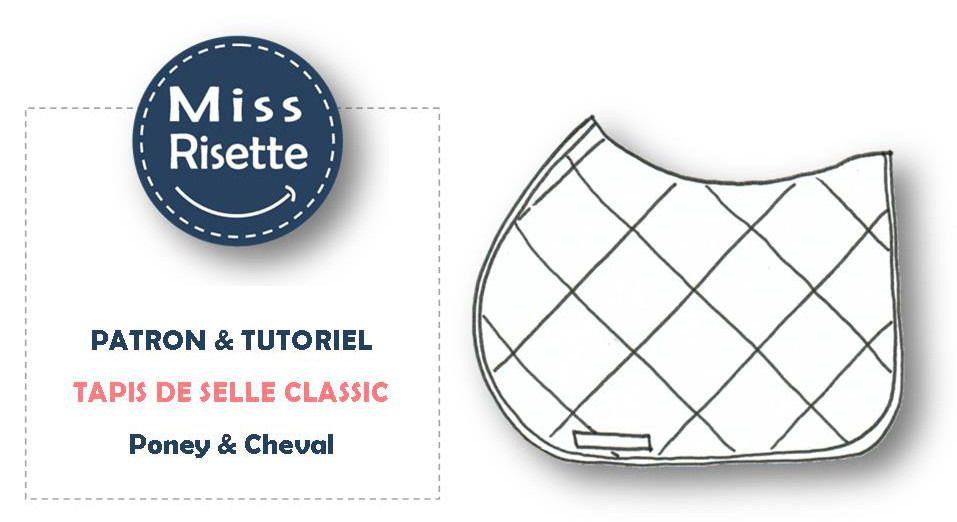 Patron De Couture Tapis De Selle Equitation Classic Animaux Par