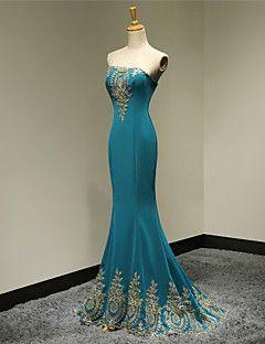 Formal Evening Dress - Jade Plus Sizes / Petite Trumpet/Mermaid Strapless Floor-length Satin