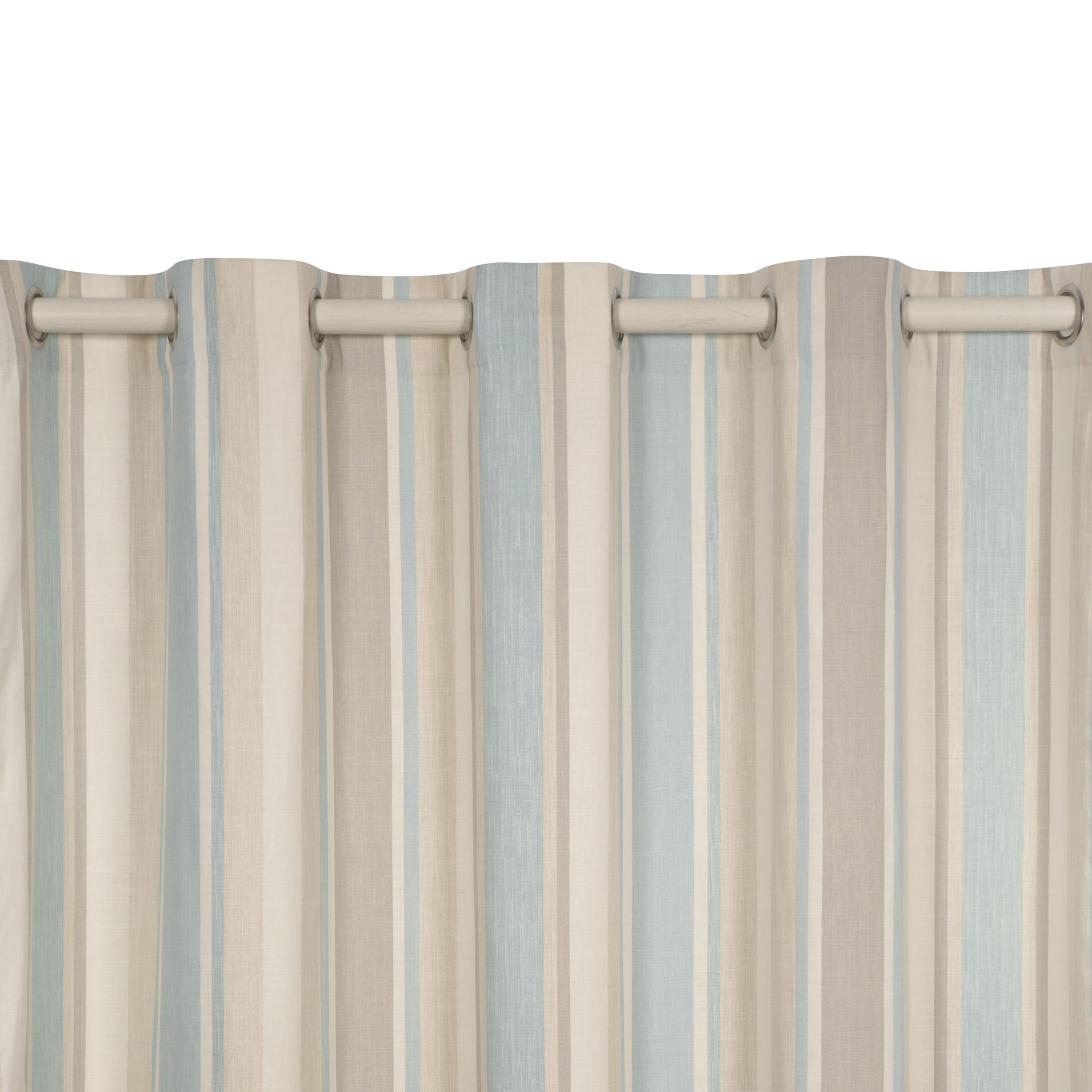 Awning Stripe Eyelet Ready Made Curtains £175