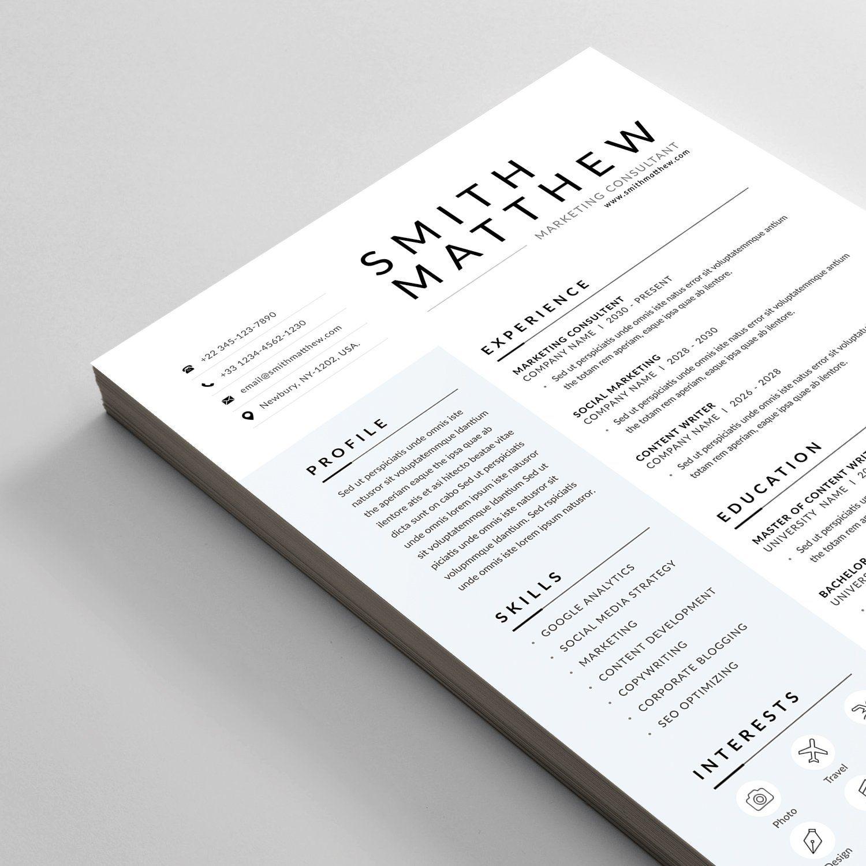Resume Cv Downloadable Resume Template Resume Cv Letterhead Design