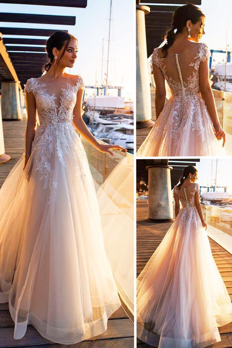 24 Gorgeous Spring Wedding Dresses #weddingfall