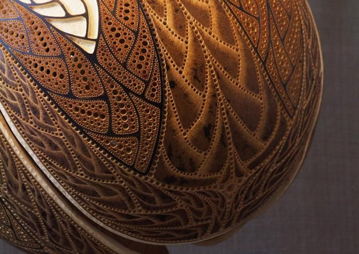 Superior Lamp Gourd Carving Patterns | 18 Photos Of The How To Create DIY Gourd Lamps Awesome Ideas