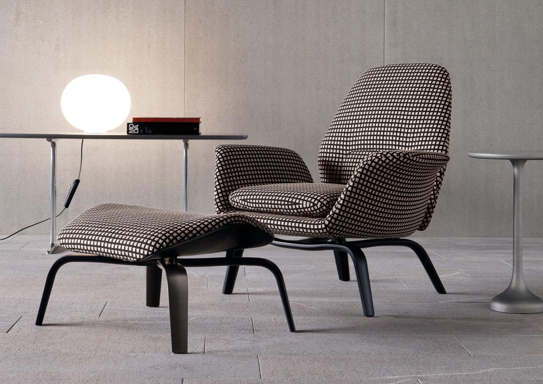 Minotti Gilliam Lounge Chair Comfortable Sofa Furniture