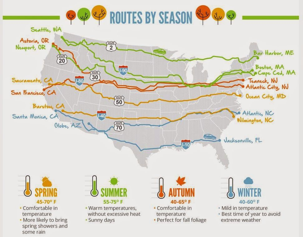 cool new infographic about driving cross country in reference to season natl parks road trip maproad tripsusa