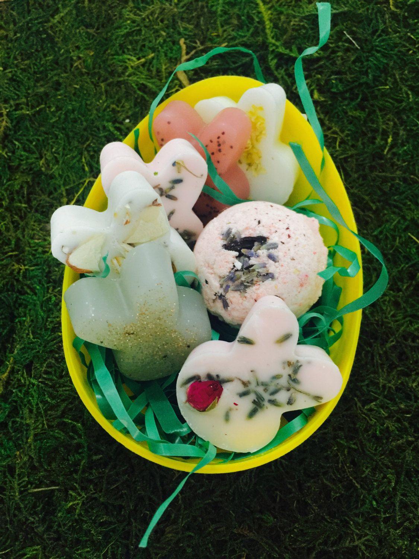 Easter bunny basket egg soap bath gift set bath bomb free easter bunny basket egg soap bath gift set bath bomb free shipping negle Gallery