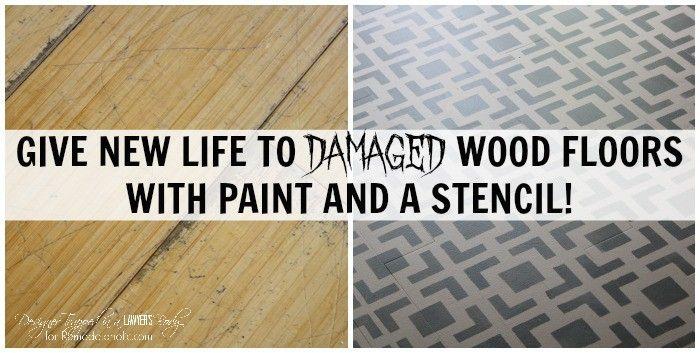 Diy Painted Wood Floors Stenciled Floor Tutorial Designer Trapped Stenciled Floor Flooring Kitchen Flooring