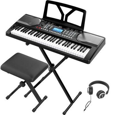 Piano Keyboard 61 Key Electronic Keyboard With Touch Response Keys Instrumentstogo Com Digital Piano Keyboard Electronics Piano Sustain Pedals