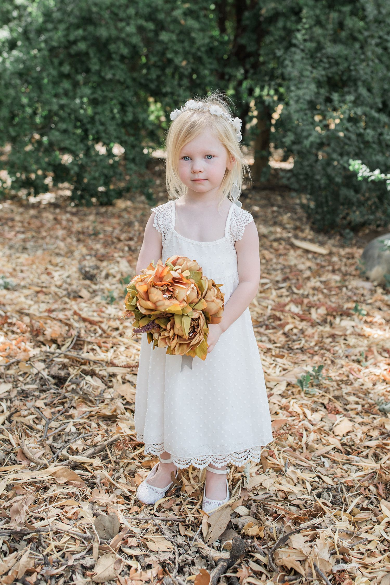 Fall wedding dresses flower girl dress and wedding guest ideas looking for wedding outfit ideas this bohemian flower girl dress is just adorable lace flower girl dress from davids bridal mightylinksfo