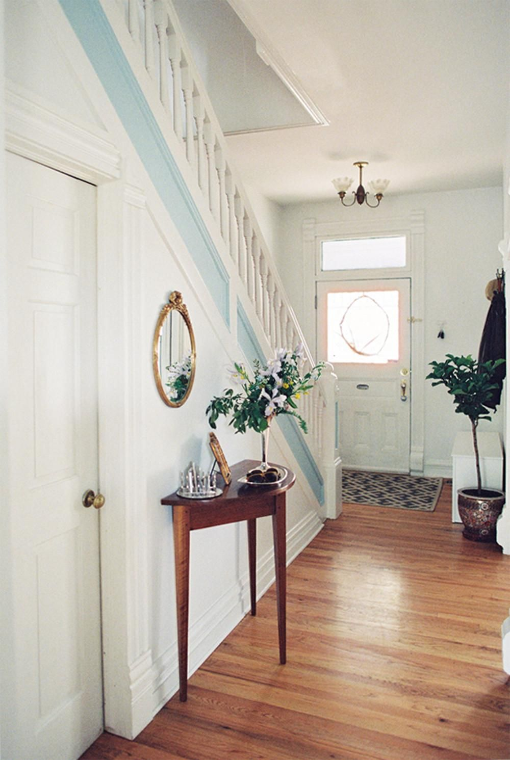 End of hallway decor  Quite the entrance  Moving In  Pinterest  Victorian Foyers and
