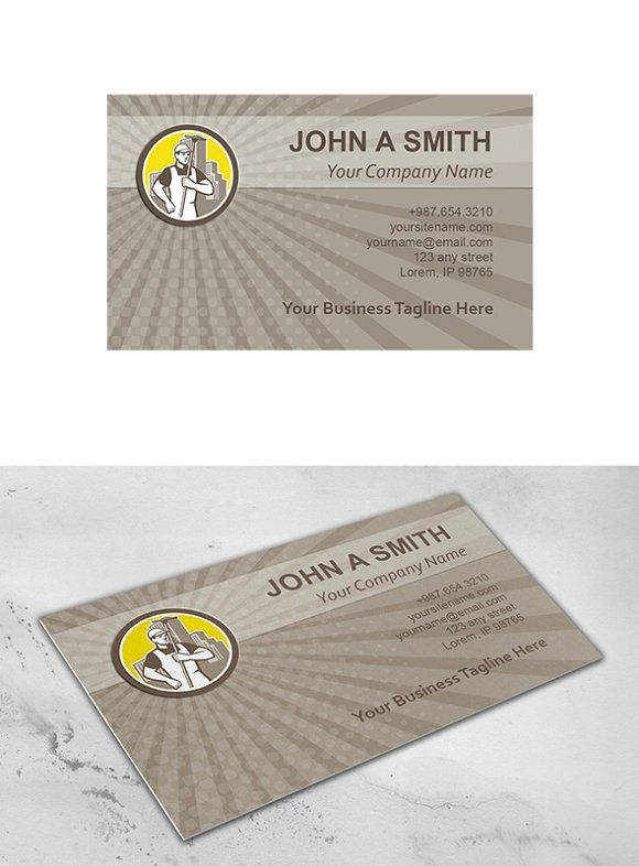 Business Card Template Window Clean Business Card Template Business Cards Creative Templates Cleaning Business Cards