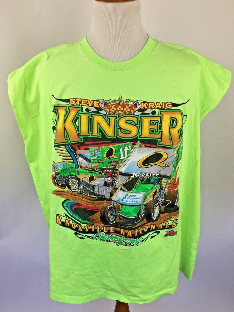 Steve Kinser T Shirt Racing Knoxville Nationals 4xl Green No